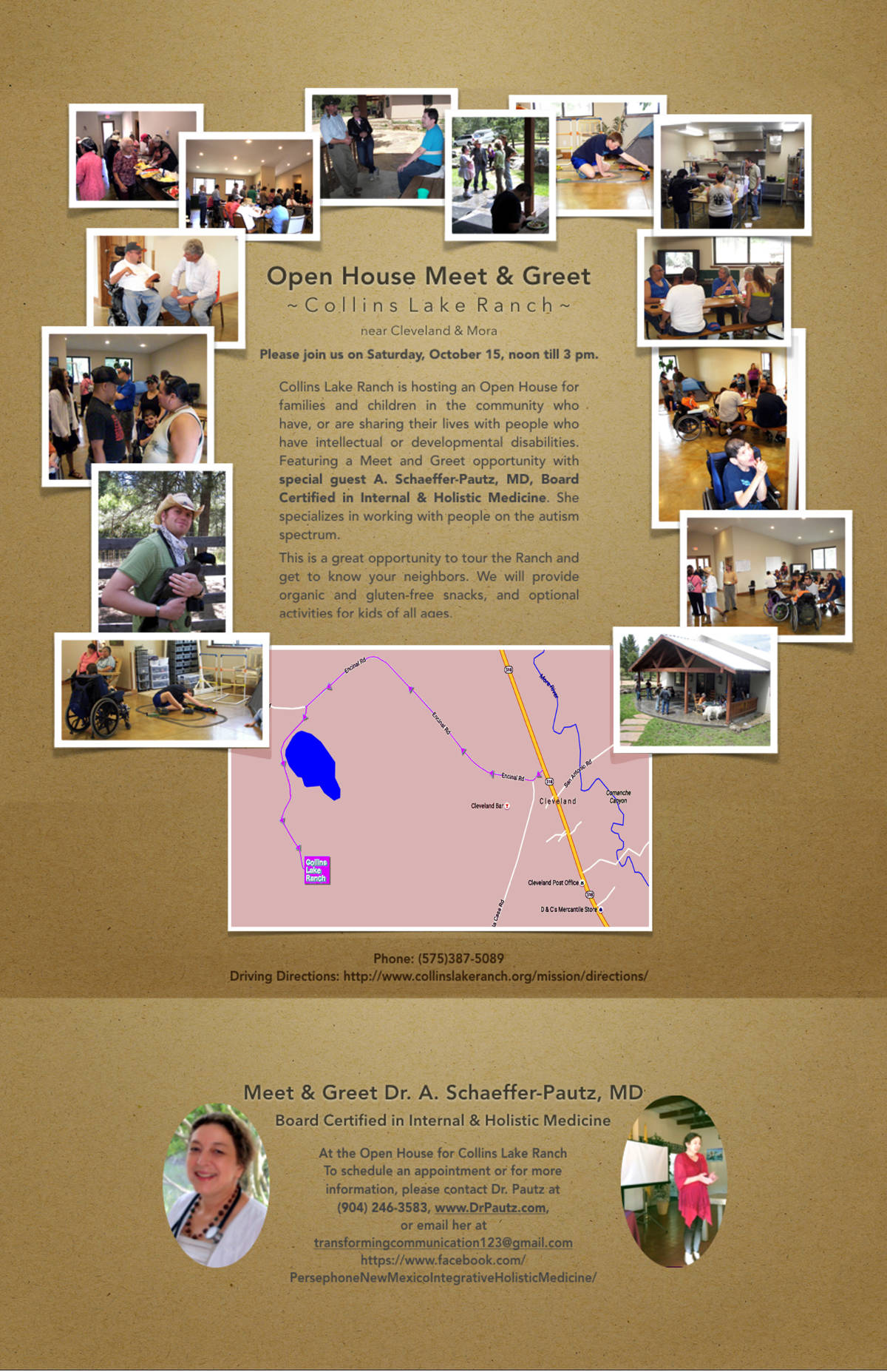 Dr. Pautz Collins Lake Ranch Open House Meet & Greet October 2016